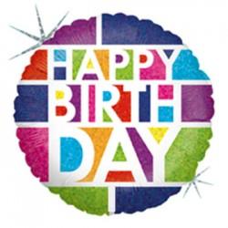 Globo Happy Birthday de colores