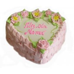 Torta corazon de mamá
