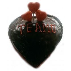 Torta corazón de chocolate para mamá