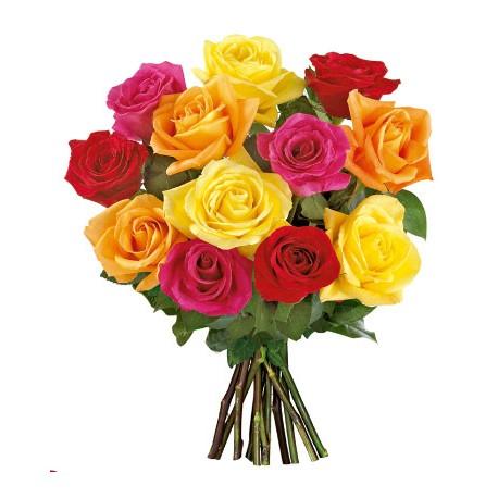 Ramo de 12 rosas mixtas