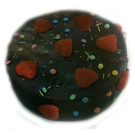 Torta chocolate y corazones de mamá